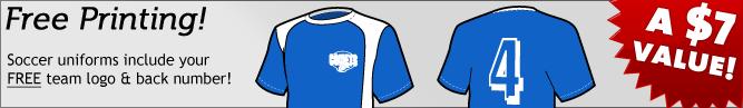 Free Soccer Uniform Printing